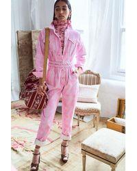 LoveShackFancy Morellia Jumpsuit - Pink