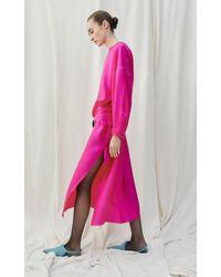 Nackiyé Topkapi Kaftan Dress With Sash Belt - Pink