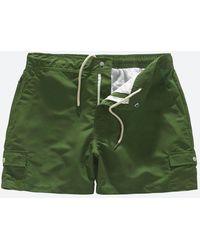 Oas Green Cargo Swim Shorts