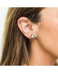 S. CARTER DESIGNS Sliced Diamond Stud Earrings - Multicolour