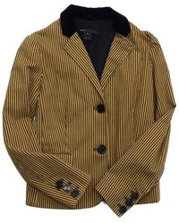 Marc Jacobs Mustard Yellow & Gray Striped Cotton Jacket