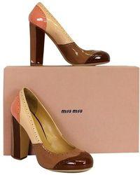 Miu Miu - Blush & Tan Oxford Heels - Lyst