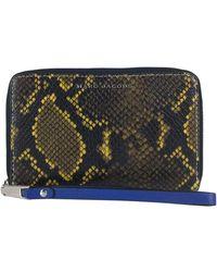 Marc Jacobs Snakeskin Print Leather Wristlet - Multicolor