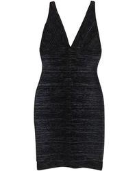 Hervé Léger | Black Bandage Dress | Lyst