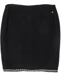 Chanel - Black Wool Pencil Skirt - Lyst