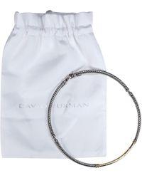 David Yurman Sterling Silver & 14k Gold Collar Necklace W/ Diamonds - Metallic