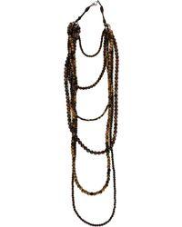 Brunello Cucinelli Multistrand Bead Necklace - Brown