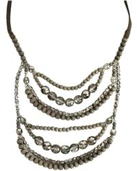 Brunello Cucinelli - Brunello Cicunelli- Wood & Crystal Layered Necklace - Lyst