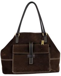 Loro Piana - Brown Suede Globe Purse - Lyst