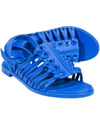 Givenchy Bright Royal Blue Moulded Strappy Sandals
