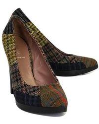 Miu Miu Plaid Pointed Heels - Multicolor
