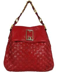 Marc Jacobs Red Leather Elsa Woven Bag