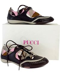Emilio Pucci - Brown & Pink Print Sneakers - Lyst