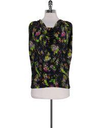 Jean Paul Gaultier - Multi-color Cowl Neck Top - Lyst