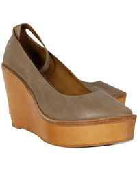 Isabel Marant Taupe Platform Wedges - Brown
