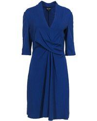 Giorgio Armani Royal Blue Knotted Dress
