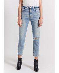 Current/Elliott The Vintage Cropped Slim Jean - Blue