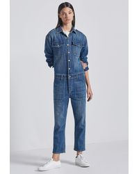 Current/Elliott The Crew Coverall - Blue