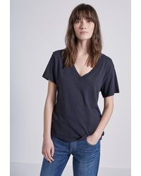 Current/Elliott The Perfect V-neck Tee - Black