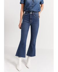 Current/Elliott The High Waist Kick Jean - Blue