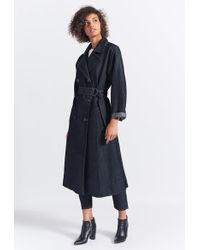 Current/Elliott The Hh Club Trench - Blue