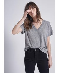 Current/Elliott The Perfect V Tee - Grey