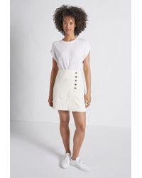 Current/Elliott The Love Mini Skirt - White