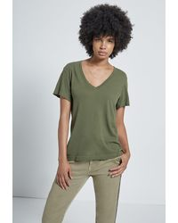 Current/Elliott The Perfect V Tee - Green