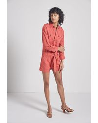 Current/Elliott The Kaya Romper - Red