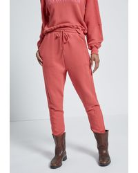 Current/Elliott The Hunt Sweatpant With Seaming - Red