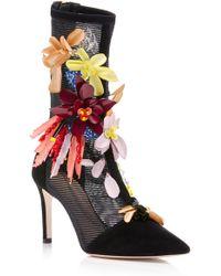 Cushnie et Ochs - Embellished Enzo Mesh Boot - Lyst