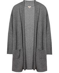 Cuyana Open Cashmere Cardigan - Gray
