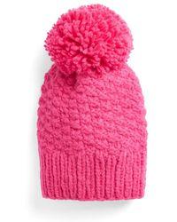 Cuyana Alpaca Pom-pom Beanie - Pink