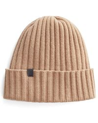 Cuyana Wool Cashmere Ribbed Beanie - Natural