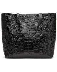 Cuyana Classic Structured Leather Tote Bag - Black