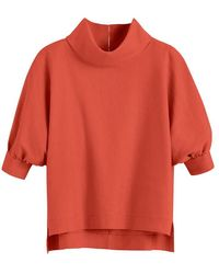 Cuyana Linen Dolman Sleeve Top - Orange