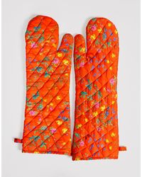 Cynthia Rowley Quilted Oven Mitts - Multicolor