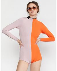 Cynthia Rowley Logan Long Sleeve Wetsuit - Orange