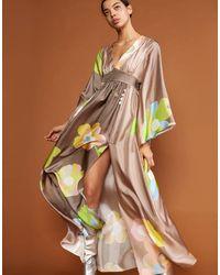 Cynthia Rowley Yvonne Pop Floral Kimono Dress - Multicolor