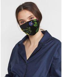 Cynthia Rowley Printed Cotton Mask - Blue