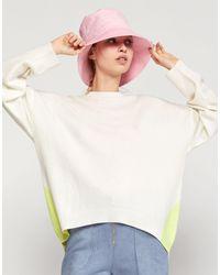 Cynthia Rowley Willow Merino Cashmere Colorblock Sweater - White