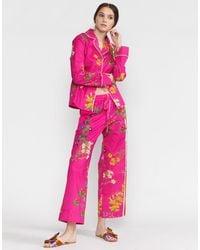 Cynthia Rowley Botanical Pajama Pant - Pink