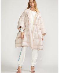 Cynthia Rowley Cindy Oversized Down Jacket - Natural