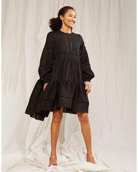 Cynthia Rowley Roma Lace Trim Dress - Black