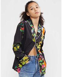 Cynthia Rowley Botanical Pajama Shirt - Multicolor