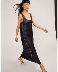 Cynthia Rowley - Tulum Silk Maxi Dress With Ribbon Trim - Lyst