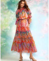 Cynthia Rowley Havana Maxi Cotton Skirt - Multicolor