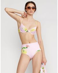 Cynthia Rowley Camile High Waisted Bikini Bottom - Multicolor