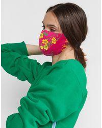 Cynthia Rowley Printed Cotton Mask - Green
