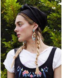 Cynthia Rowley - Black Satin Head Tie - Lyst